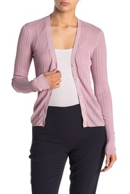 Theory Pointelle Button Front Cardigan
