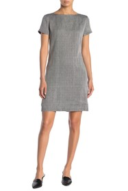 Theory Patch Pocket Linen Blend Dress