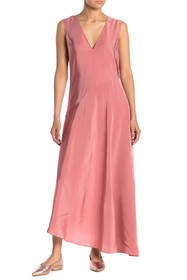 Theory V-Neck Maxi Dress