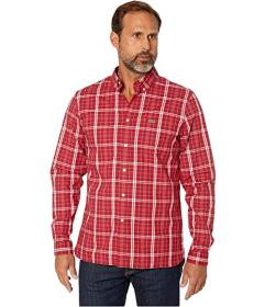 Lacoste Long Sleeve Popeline Stretch Gingham Woven