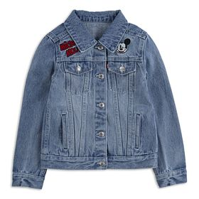 Disney Mickey Mouse Denim Trucker Jacket for Girls