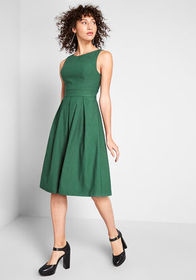ModCloth ModCloth Always Polished Fit and Flare Dr