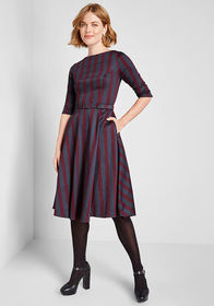 Collectif Collectif Today We Stripe A-Line Dress N