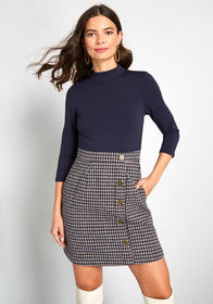 ModCloth Partners in Poise Twofer Dress Blue