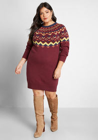 ModCloth ModCloth Cozy Commitment Sweater Dress Re
