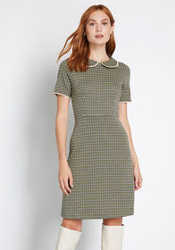 Truth of the Matter A-Line Dress Green Multi