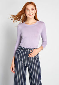 ModCloth Charter School Pullover Sweater Lavender