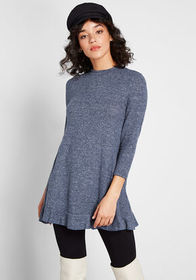 ModCloth ModCloth Love of Ruffles Knit Tunic in Na