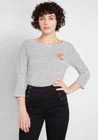 ModCloth ModCloth Admiration Earned Striped Knit T
