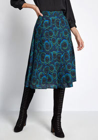 ModCloth ModCloth All or Nothing Pleated Midi Skir