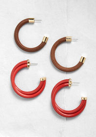 Mixing and Mingling Hoop Earring Set Multi