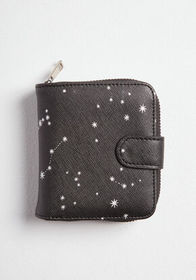 ModCloth ModCloth Comes in Handy Stars Wallet Blac