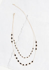 All You Can Bead Layered Necklace Gold/Black