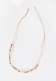 Bead Seeing You Layered Necklace Gold Multi