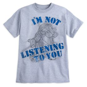 Disney Grumpy ''I'm Not Listening to You'' T-Shirt