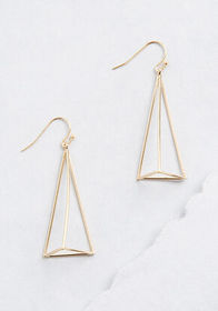 Showing My Good Side Triangle Earrings in Gold