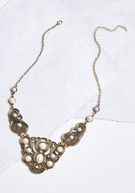 What's the Occasion? Statement Necklace Gold Antiq