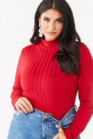 Forever21 Plus Size Ribbed Turtleneck Top