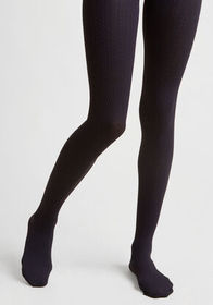 Cable for Discussion Tights in Midnight marine