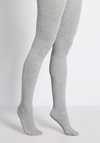 Unexpected Speckles Knit Tights in Grey