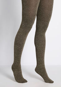 Unexpected Speckles Knit Tights in Khaki Green
