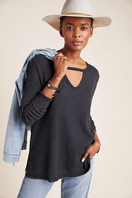 Anthropologie Nadia Cut-Out Waffle Tunic