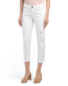 KUT FROM THE KLOTH Amy Cropped Straight Leg Jeans