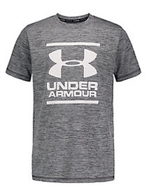 Under Armour Boy's Heathered Surf Tee PITCH GREY