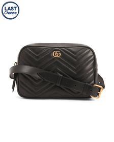 GUCCI Made In Italy Leather Gg Marmont Hip Pack