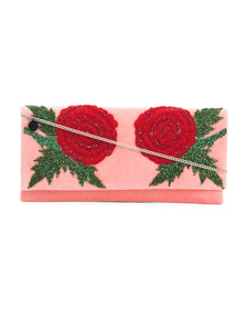 FROM ST. XAVIER Damask Clutch