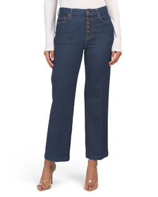7 FOR ALL MANKIND Cropped Alexa Jeans With Exposed