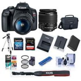 Canon EOS Rebel T7 DSLR Camera with EF-S 18-55mm f