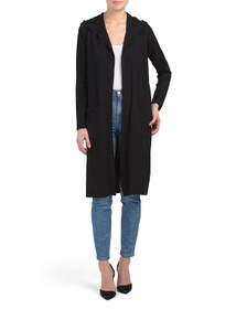 CYRUS Duster Cardigan With Hood