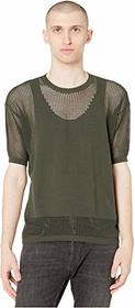 DSQUARED2 Mesh Short Sleeve Sweater