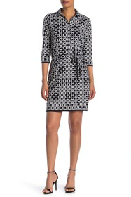 Max Studio 3/4 Length Sleeve Shirt Dress