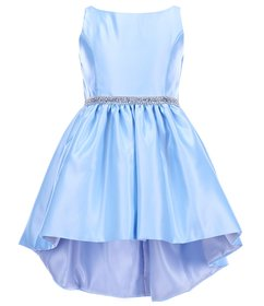 Sweet Kids Little Girls 4-6 Satin Rhinestone-Trim