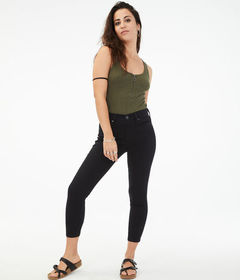 Aeropostale Seriously Stretchy High-Rise Cropped J
