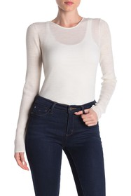 Vince Ribbed Knit Wool Crew Neck Sweater