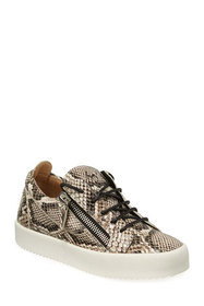 Giuseppe Zanotti Double Zip Snake-Embossed Low-Top