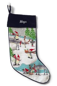 Lands End Needlepoint Personalized Christmas Stock