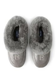 Lands End Women's Suede Leather Shearling Fur Hous