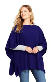 Lands End Women's Cashmere Ruffle Sweater Poncho