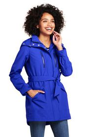 Lands End Women's Lightweight Belted Squall Rainco