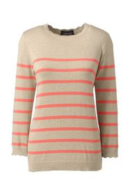 Lands End Women's 3/4 Sleeve Supima Cotton Sweater