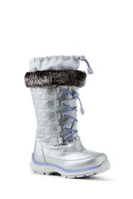 Lands End Girls Snowflake Winter Snow Boots