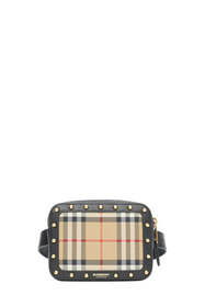 Burberry Girl's Elise Check & Leather Square Belt