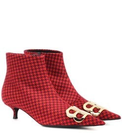 Balenciaga BB printed wool ankle boots