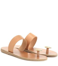 Ancient Greek Sandals Thalia Coin leather sandals