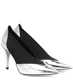 Givenchy Metallic leather pumps