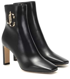 Jimmy Choo Minori 85 leather ankle boots